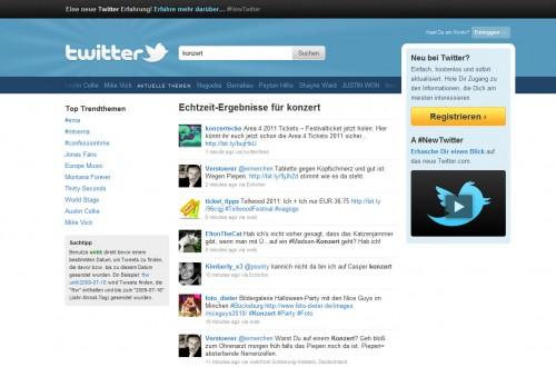 Twitter Echtzeit Suche