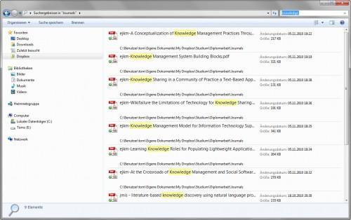 Windows Explorer Suche