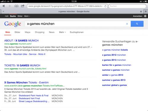 Events in Suchergebnissen (SERP)