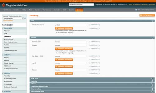 Magento RWD: Custom Theme aktivieren