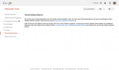 Google Webmaster Tools Sicherheit