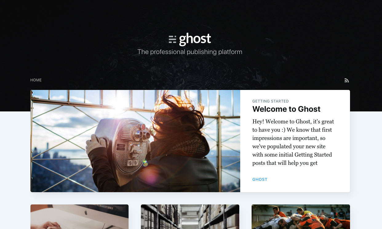 Die Blogging Software Ghost