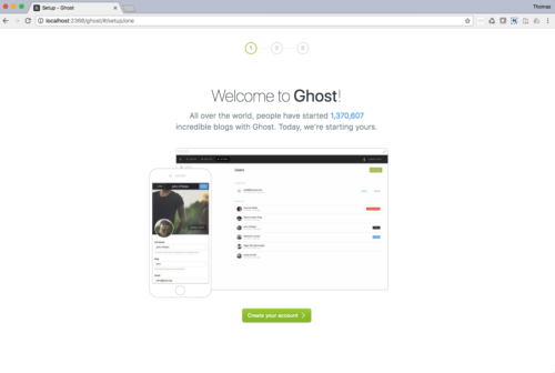 Ghost Setup - 1