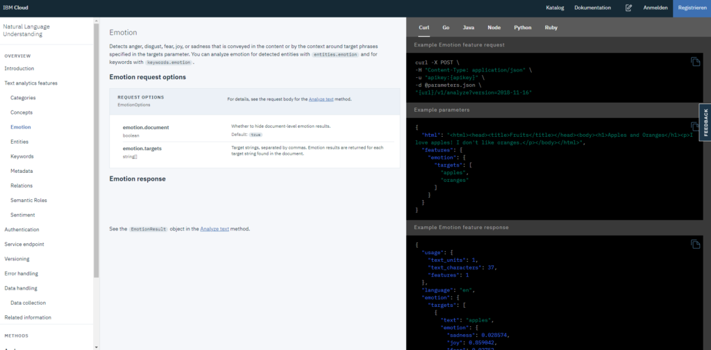 IBM Cloud NLP Developer Docs