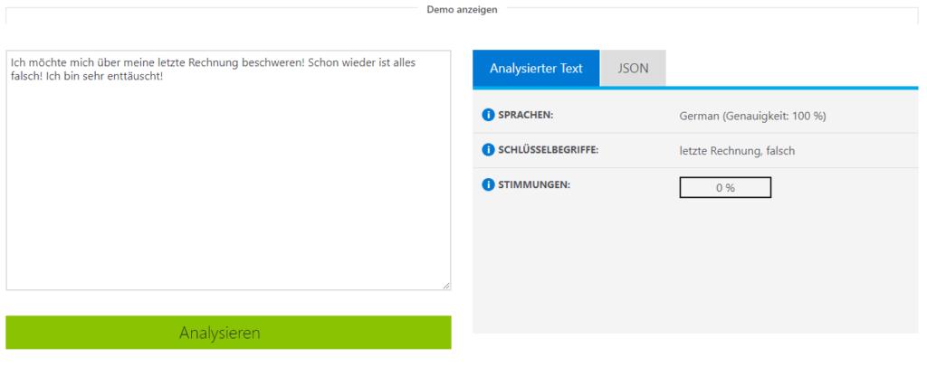 Microsoft Azure NLP Demo